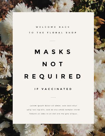 Masks Not Required - Quarantine and COVID-19 template