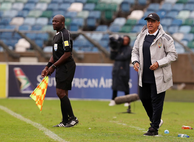 Adel Amrouche, coach of Libya during the 2019 African Cup Of Nations qualifier match between South Africa and Libya at the Moses Mabhida Stadium, Durban on September 8 2018, has quit. Picture: BACKPAGEPIX/MUZI NTOMBELA