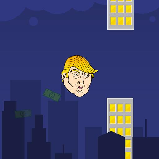 Flappy Trump -y 街機 LOGO-玩APPs