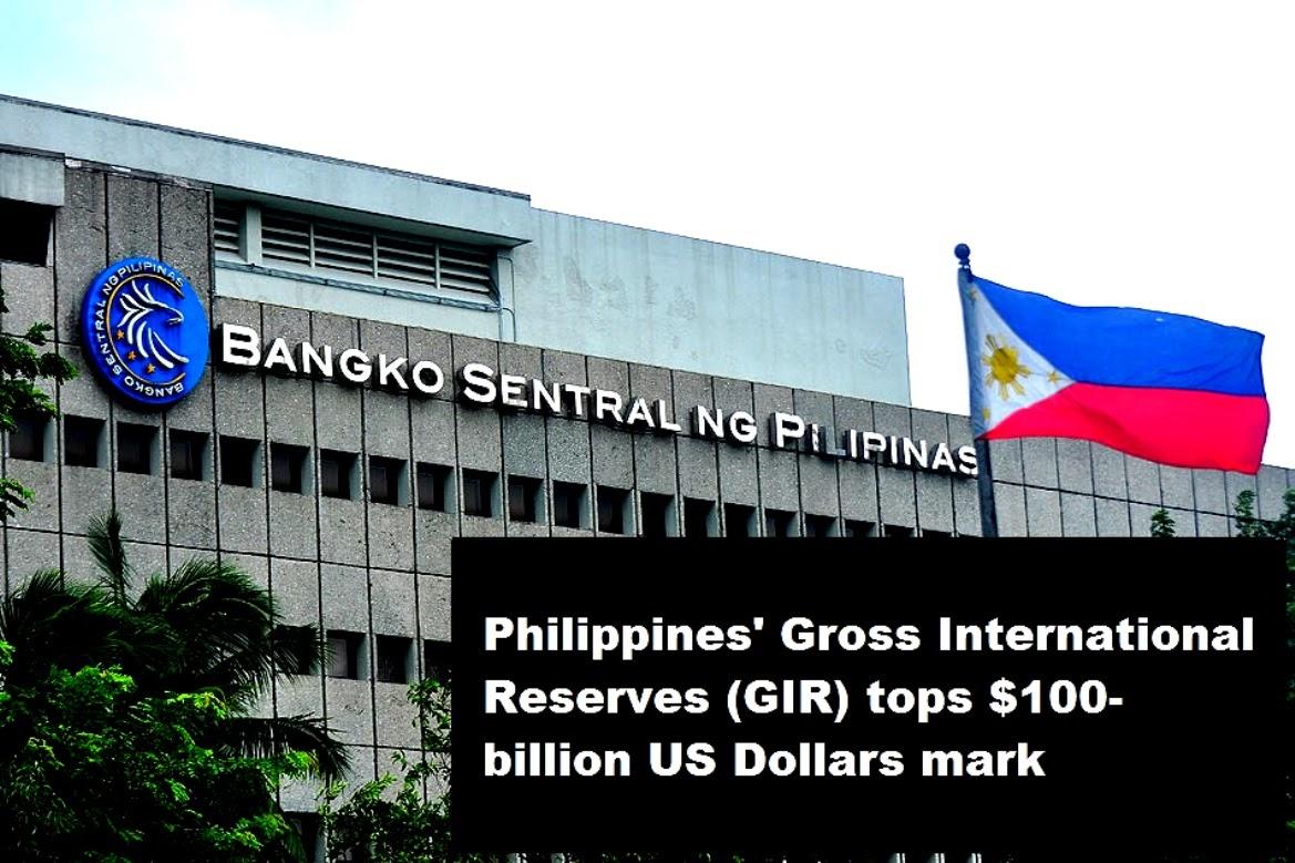 Philippines'Gross International Reserves GIR tops $100-billion US Dollar in October 2020