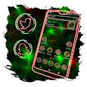 Green Light Mesh Launcher Theme icon