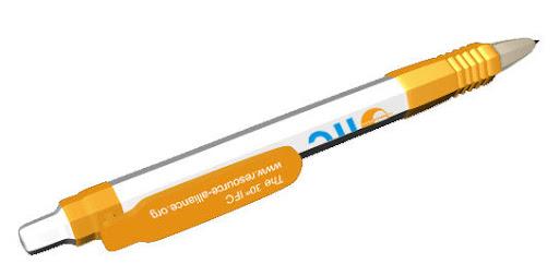Custom branded pens 3D design image