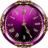 Purple Clock Widget