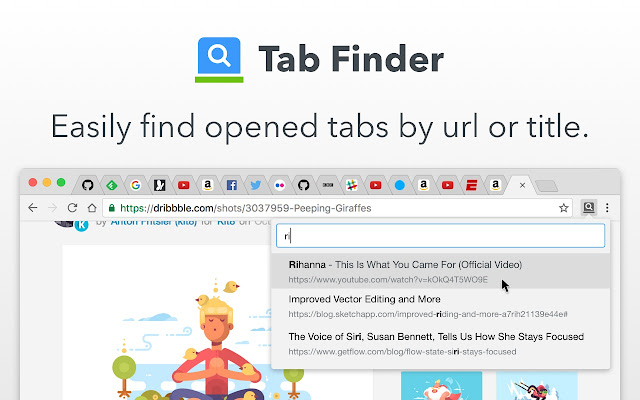 Tab Finder - Quickly find opened tabs