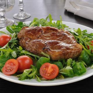 Steak With Salad Dressing Marinade.
