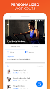 Virtuagym Fitness Tracker - Home & Gym Screenshot