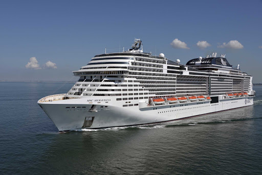 msc-meraviglia-ship-at-sea.jpg -  MSC Meraviglia sails itineraries in the Western Mediterranean, United Kingdom, Northern Europe and Baltic Sea.