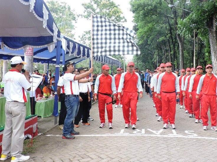 Gerak Jalan Monumen Soerjo-Ngawi Diikuti 190 Regu