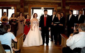 Photo: Tablerock Mountain Lodge - Ceremony in progress -10/09 - Photo courtesy  ~ http://PhotoDayBliss.com ~ Brenda M. Owen - http://WeddingWoman.net