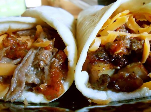 Burrito Shop Brisket And Meat & Potato Burritos Recipe