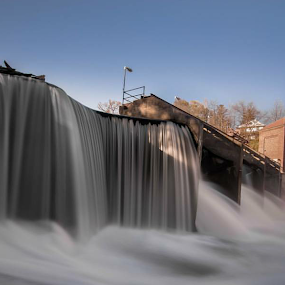 The Falls by Bob White - Landscapes Waterscapes ( smooth, waterscape, waterfall, flow, powerful, concrete, love, strong, dam, power, electricity, long exposure, pickofftheday, slow shutter, river,  )