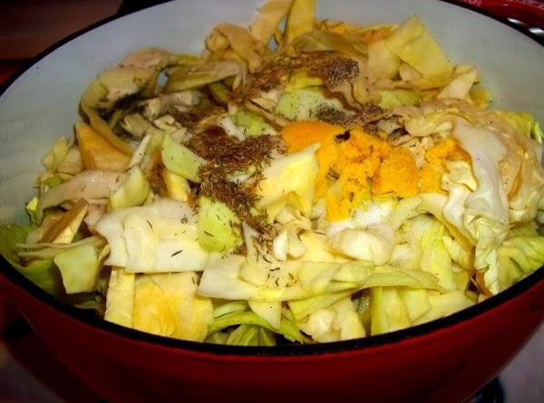 In a large ( 6 quart dutch oven or soup pot ) Add the...