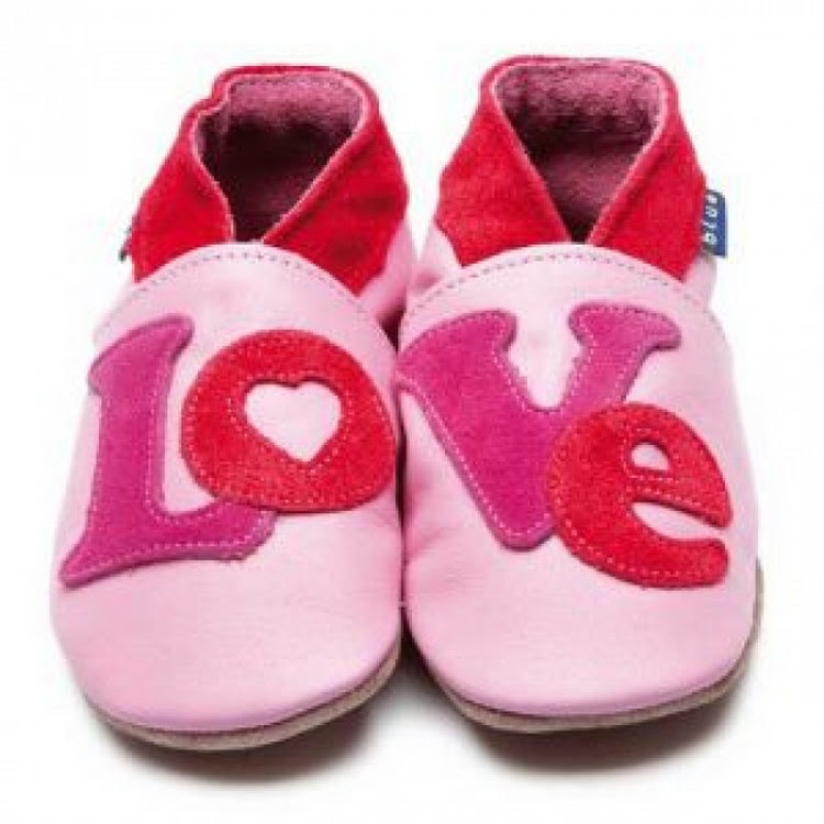 Inch Blue Soft Sole Leather Shoes - Loveletter Pink (6-12 months) by Berry Wonderful