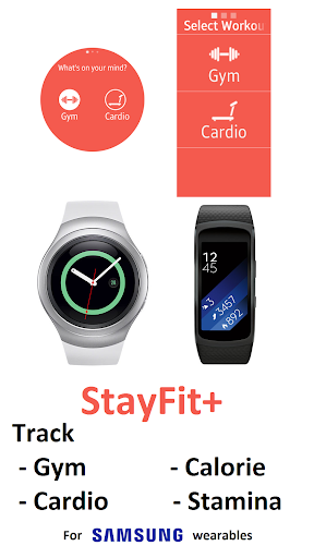 stayfit+ (gym, cardio, calorie for gear s* & fit*) screenshot 1