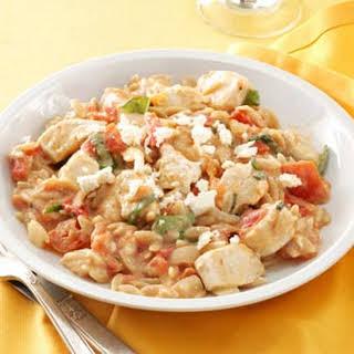 Chicken in Tomato-Basil Cream Sauce.