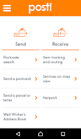 Screenshot of Posti mobile
