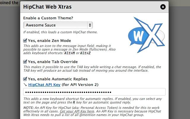 HipChat Web Xtras