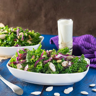 Kale and Broccoli Salad with Poppyseed Dressing