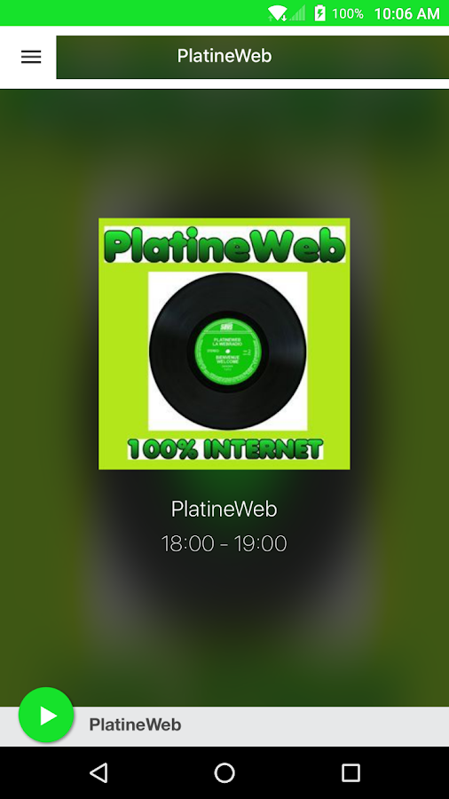 PlatineWeb- screenshot