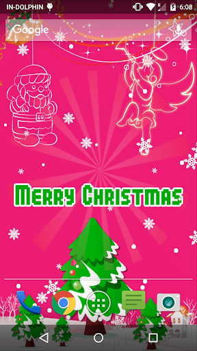 Christmas Jumping Angels LWP