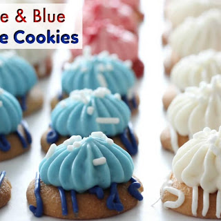 Red, White And Blue Cheesecake Cookies.