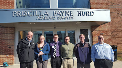 Photo: Moravian College Math Conference February 2016: Dr. Lyons, Caitlin Armor, *Nate Gibbons, *Dan Upchurch, Brad Leer, *Mark Peters (*=talk presenter)