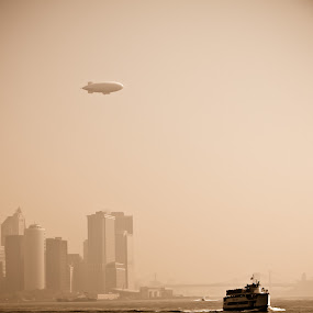 Now and Then by Ron Plasencia - Transportation Other ( water, harbor, blimp, boat, nj )