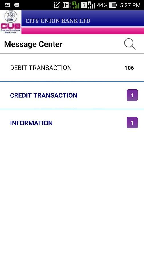 CUB Mobile Banking- screenshot