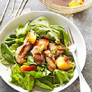 Grilled Peach-Pork Salad