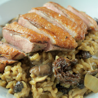 Wild Mushroom Risotto with Duck Breast