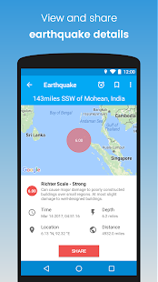 eQuake - Earthquake Alerts- screenshot thumbnail