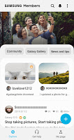 screenshot of Samsung Members