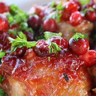 Slow Cooker Cranberry Chicken.