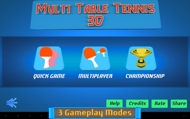Multi Table Tennis 3D - screenshot