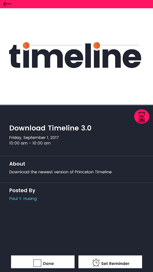 Princeton Timeline- screenshot