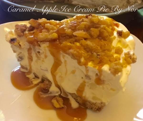 Caramel Apple Nut Ice Cream Pie
