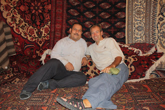 Photo: Day 135 - Rog & Carpet Seller in the Antiques Market in Tehran