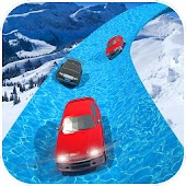 Frozen Water City Car Racing