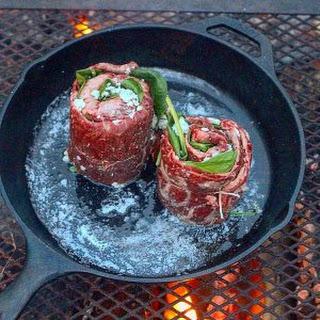 Pinwheel Skirt Steak.