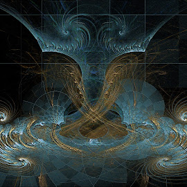 Double Dragon by Rick Eskridge - Illustration Sci Fi & Fantasy ( fantasy, jwildfire, dragon, fractal, twisted brush )