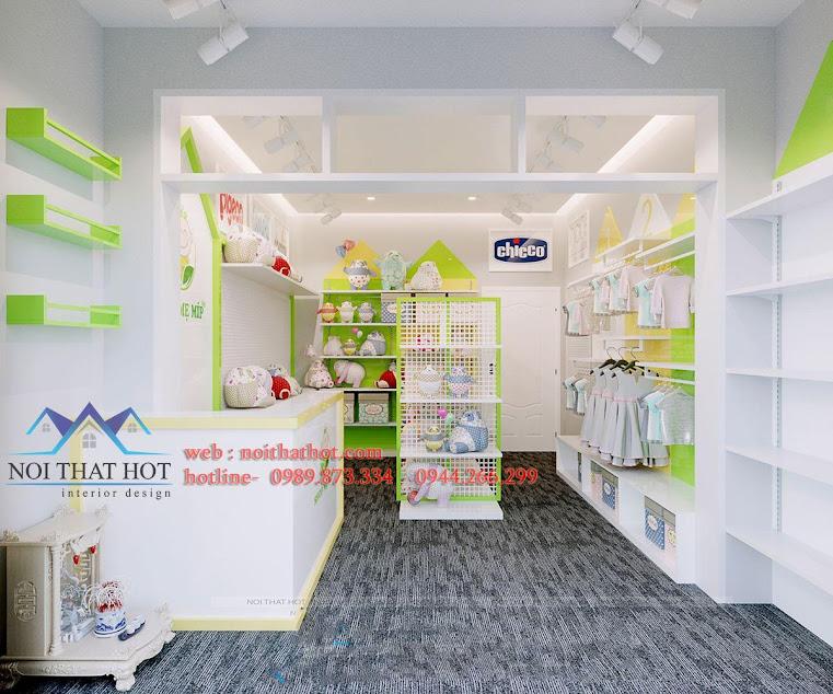 thiết kế shop bán đồ sơ sinh
