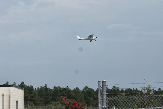 Photo: During our 3:00 break this airplane did a touch and go.
