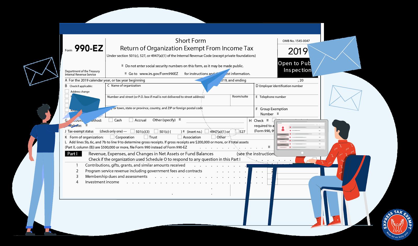 form 990-ez mailing address