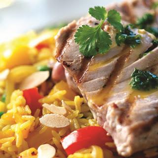 Persischer Reis mit Thunfischsteaks