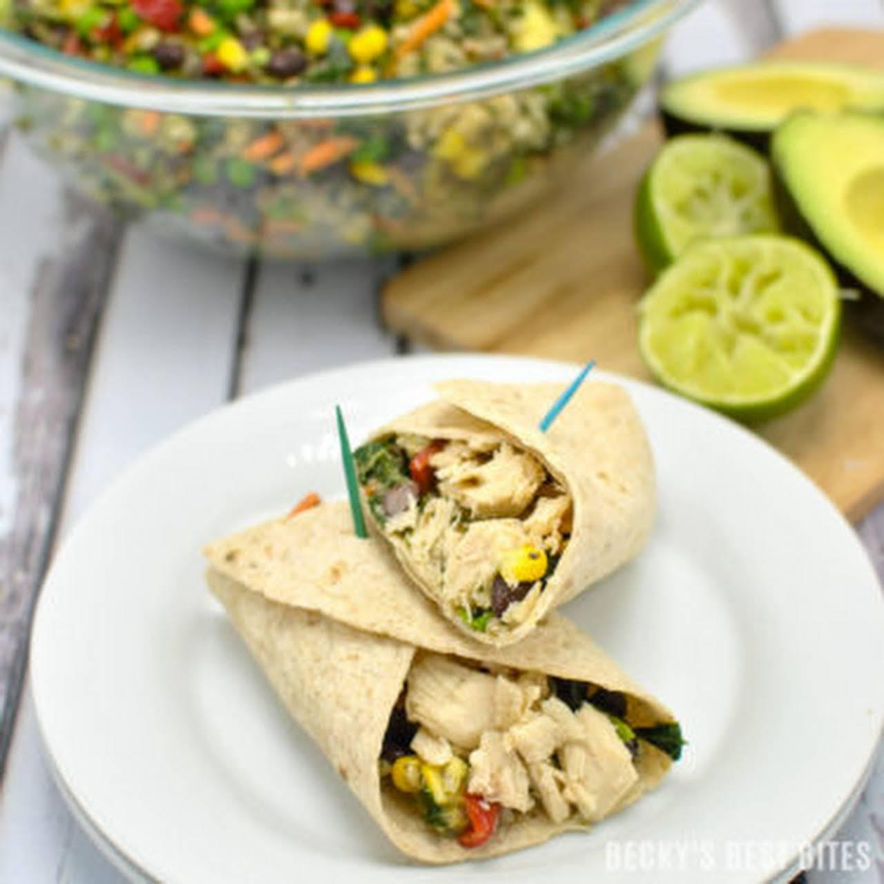 more or less The Go Loaded Tuna Quinoa Wraps