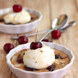 Yogurt Topped Cherry Almond Breakfast Cakes