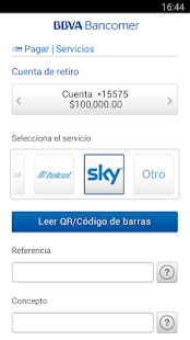 Bancomer móvil- screenshot thumbnail