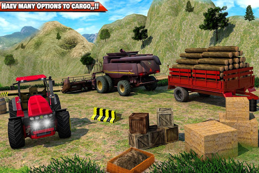 Drive Tractor trolley Offroad Cargo- Free 3D Games android2mod screenshots 10