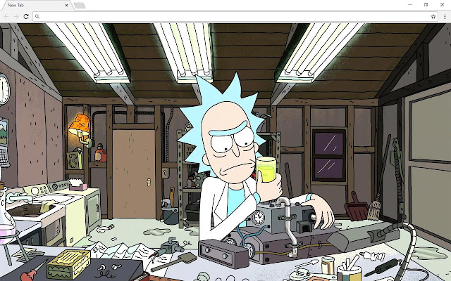 Rick And Morty New Tab Page