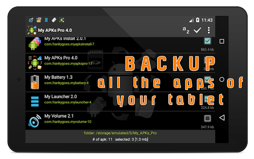 My APKs Pro - backup manage apps apk advanced app (apk) free download for Android/PC/Windows screenshot